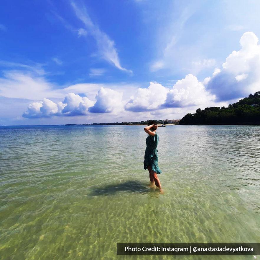 Beach with calm seas and beautiful sea views