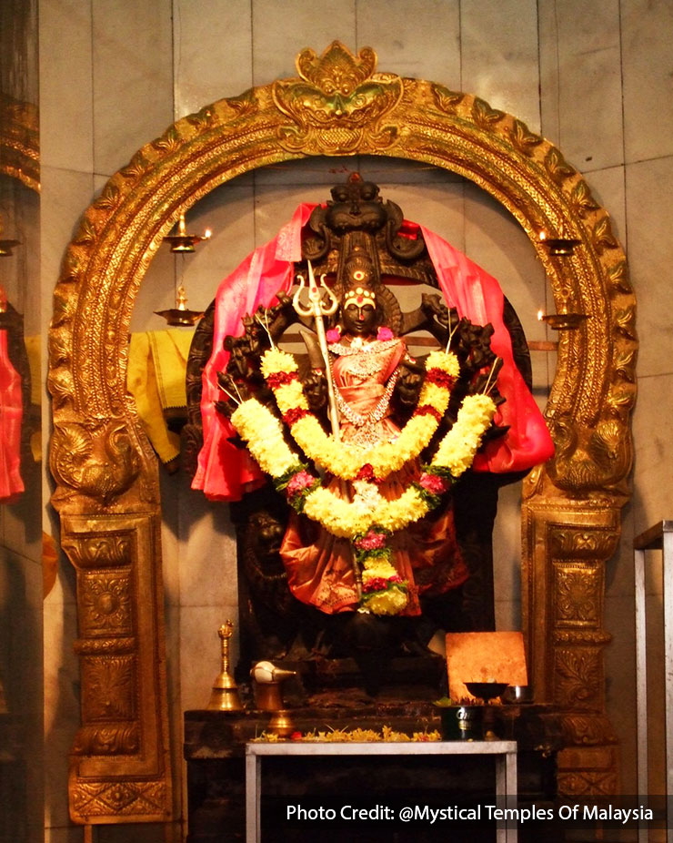 goddess ambal in mystical temple