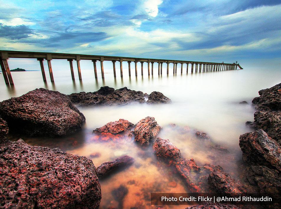 Beautiful scenic view of Teluk Pelanduk in Port Dickson