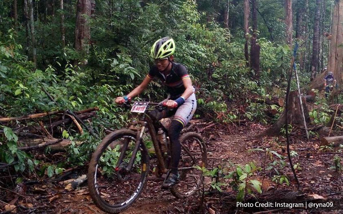 Mountain biking in sungai menyala PD forest