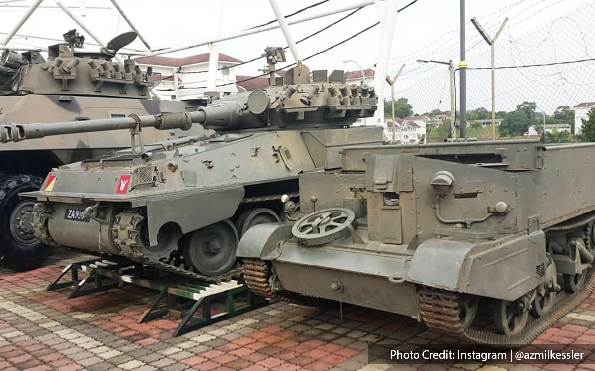 War tanks in army museum