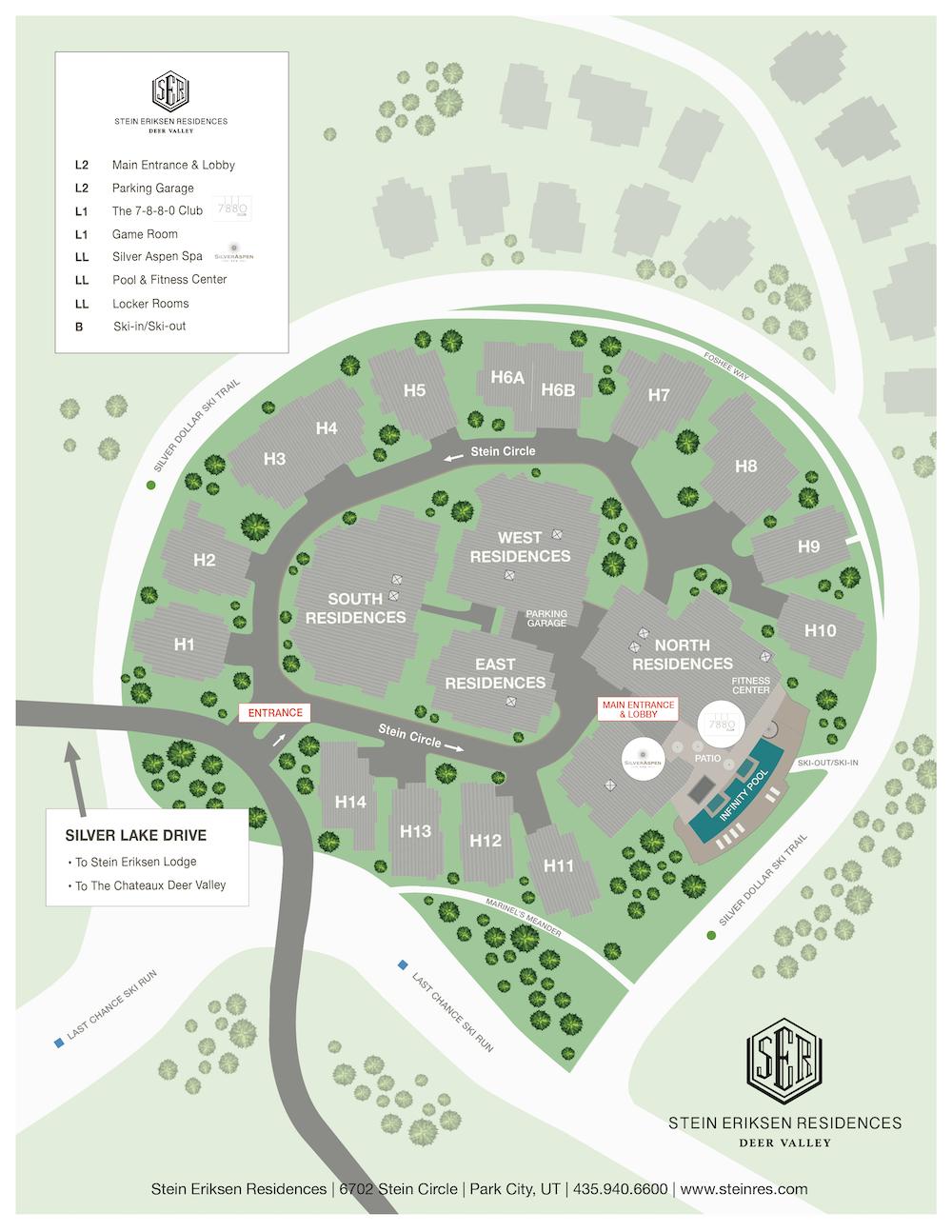 Stein Eriksen Residences Property Map