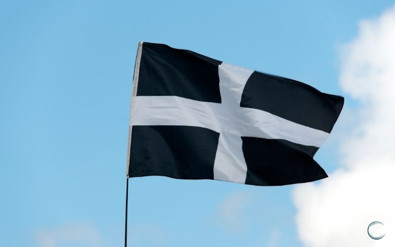 Cornish flag black and white