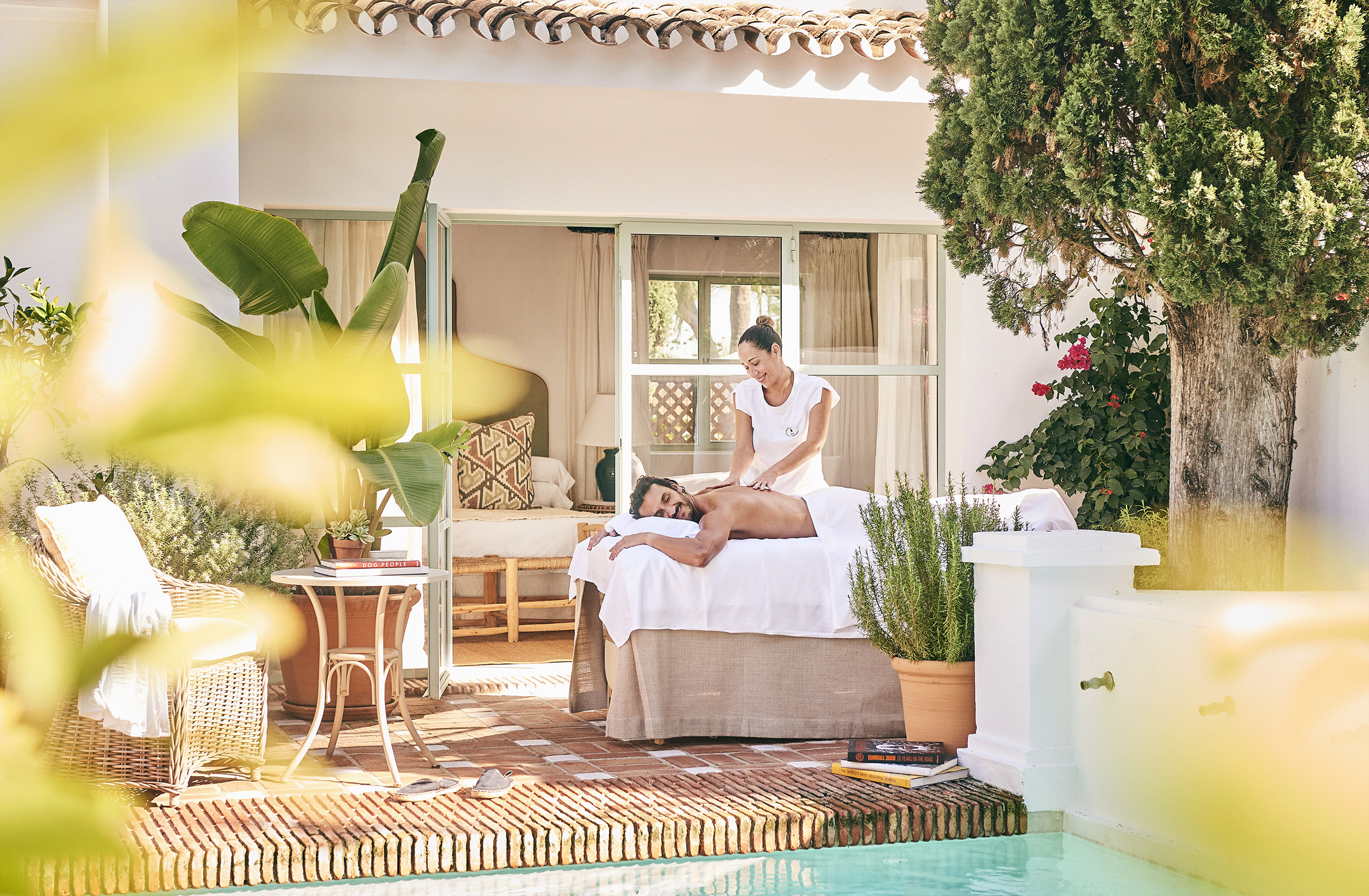 Massage by the pool at Marbella Club Hotel