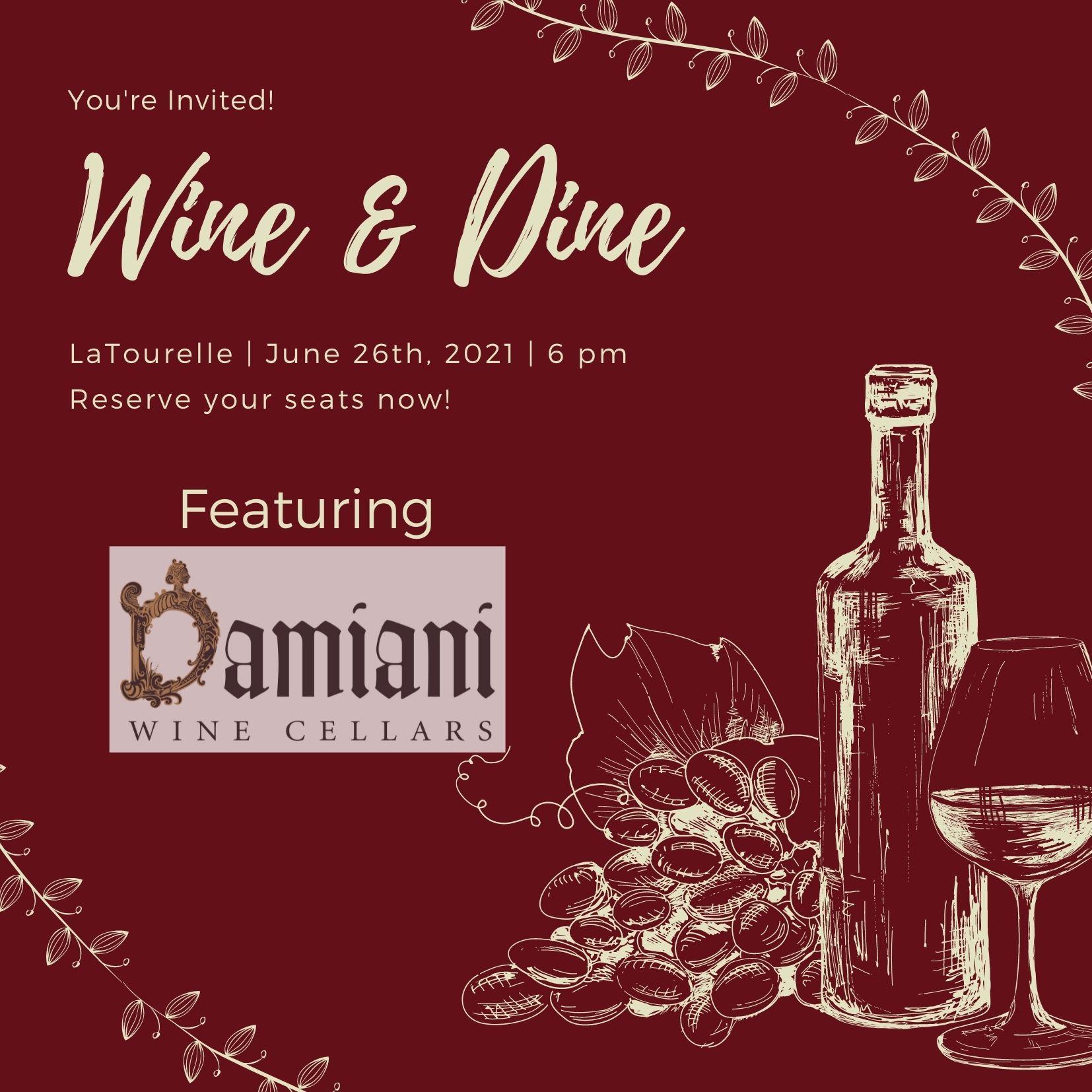 Damiani Wine Pairing Dinner
