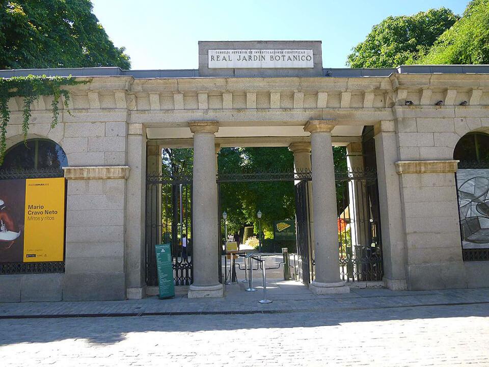 Barrio de las Letras de Madrid Real Jardín Botánico