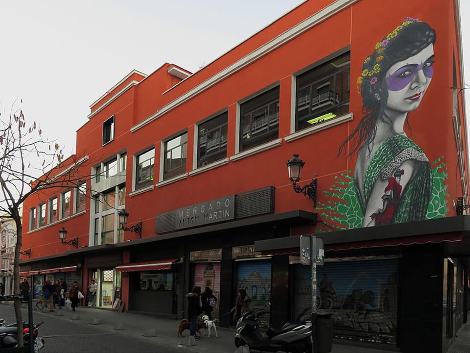 Barrio de las Letras de Madrid Mercado de Antón Martín