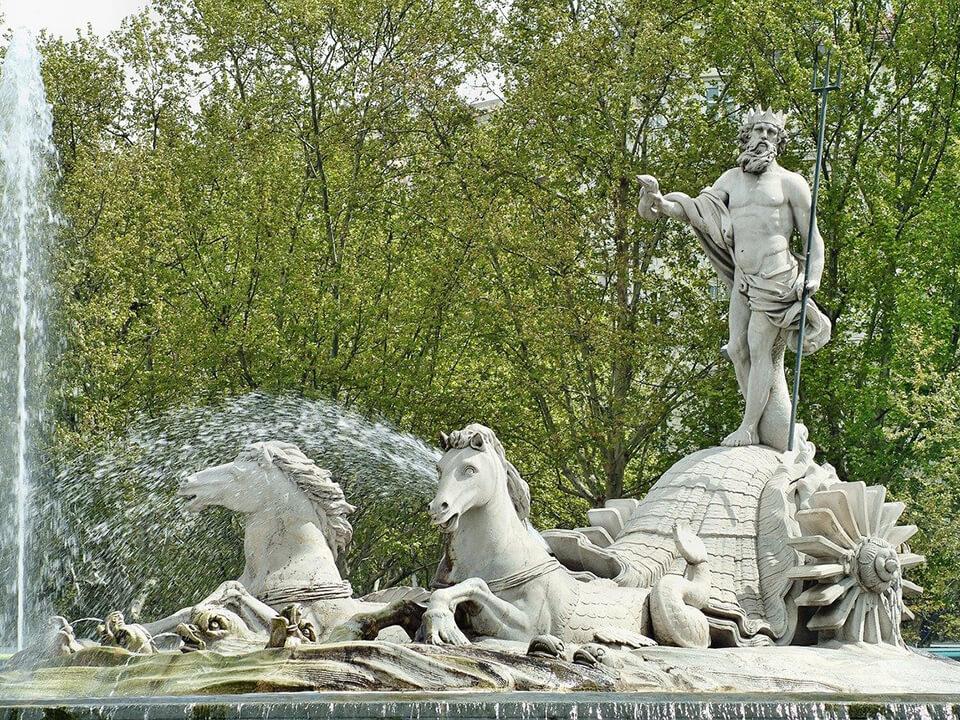 Barrio de las Letras de Madrid Fuente de Neptuno