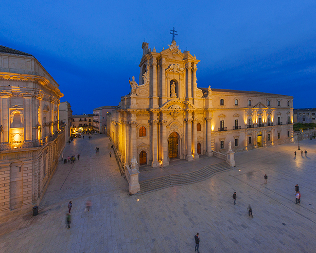 Piazza Duomo and its charming buildings