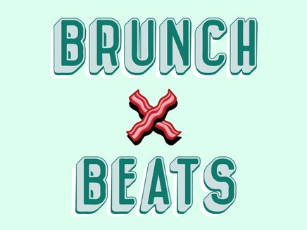 An animation of brunch & beats words at Dream Nashville