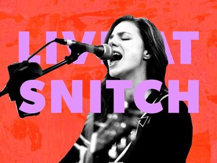 Female Singer in singing motion at Dream Nashville