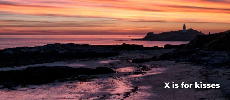 sunset at Godrevy Cornwall