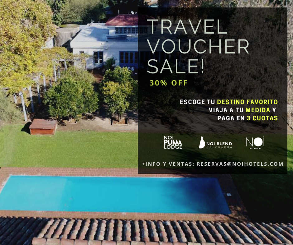 Travel Voucher Sale - 30% off Escoge Tu Destino Favorito Viaja A Tu Medida Y Paga En 3 Cuotas
