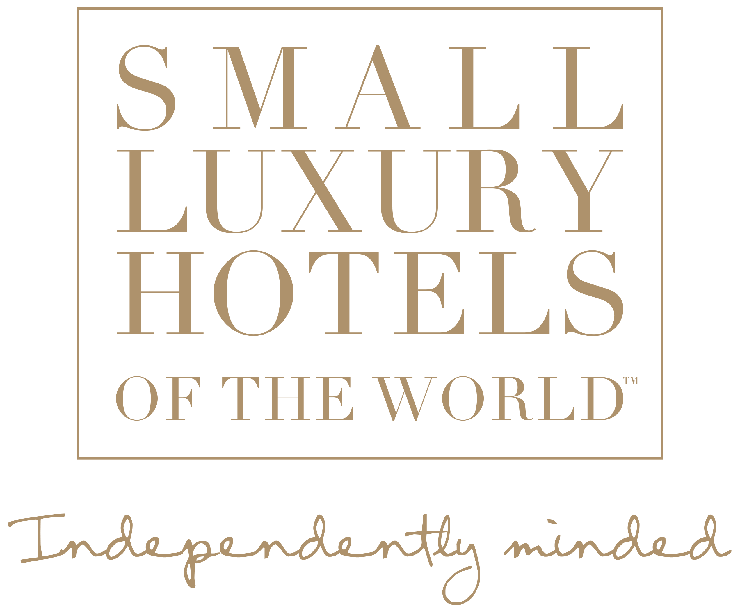 Logo for Small Luxury Hotels of the World, Independantly Minded