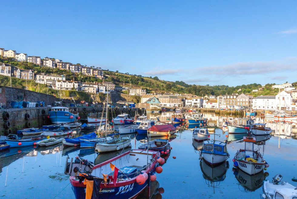 Mevagissey Harbour in Cornwall
