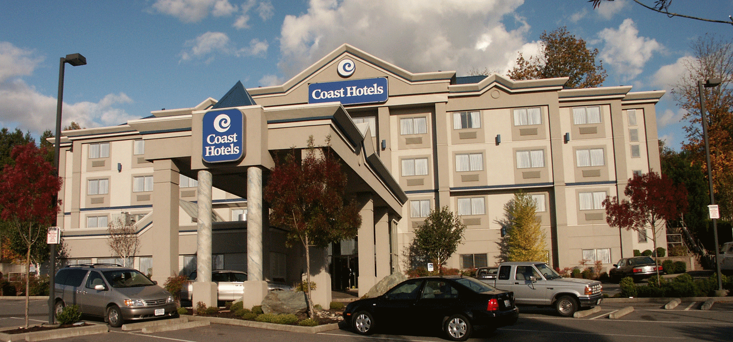 exterior view of coast abbotsford hotel