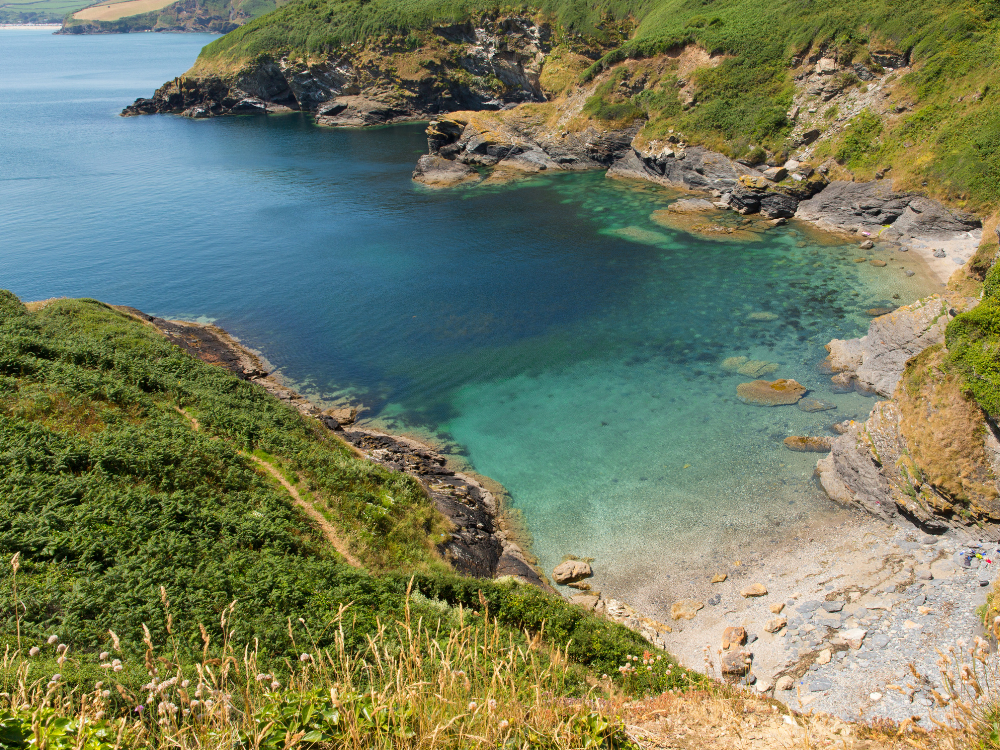 Cornish creeks and coves near Fowey