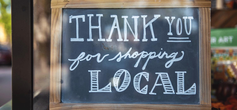 Shop Local Signage
