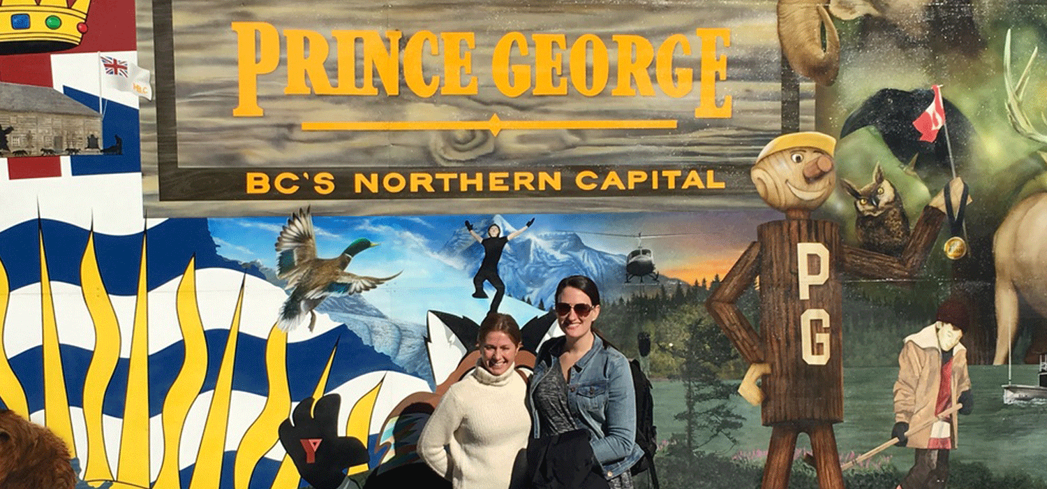 Welcome to Prince George sign