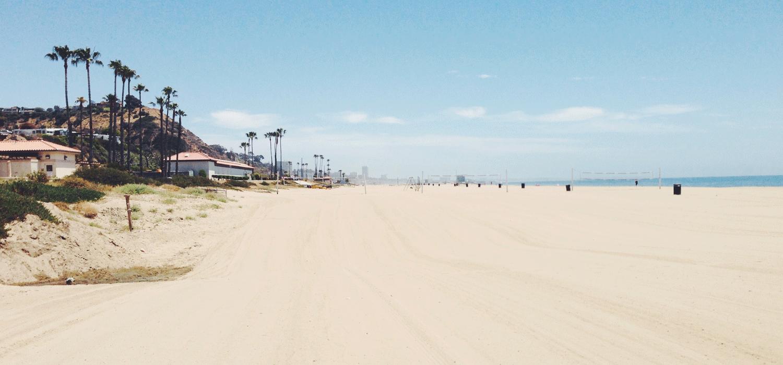 white, sandy beach near Santa Barbara, CA