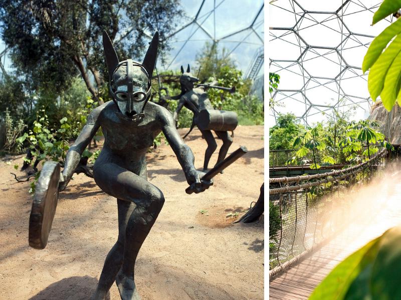 bronze statue in eden project